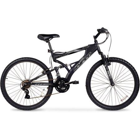 26″ Hyper Havoc Full Suspension Men's Mountain Bike, Black