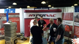 Hypervac booth at convention