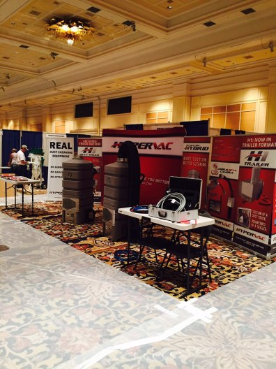 Hypervac convention booth