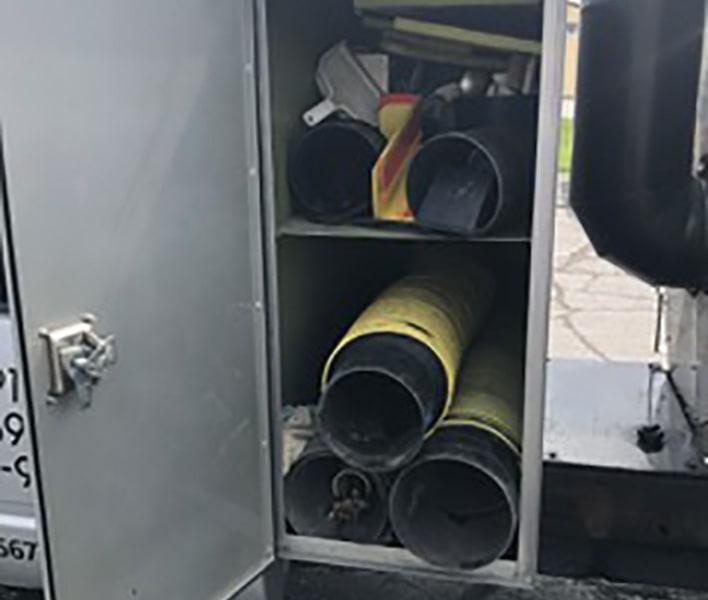 Americlean duct truck door open
