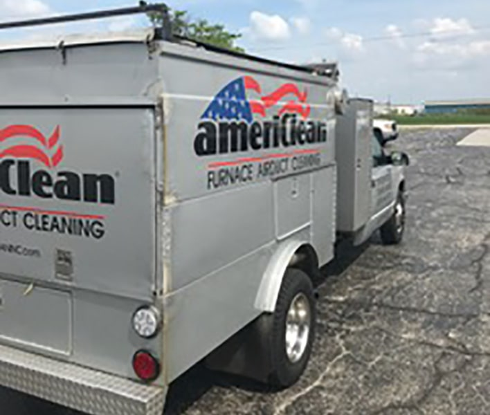 Americlean duct truck  rear side view