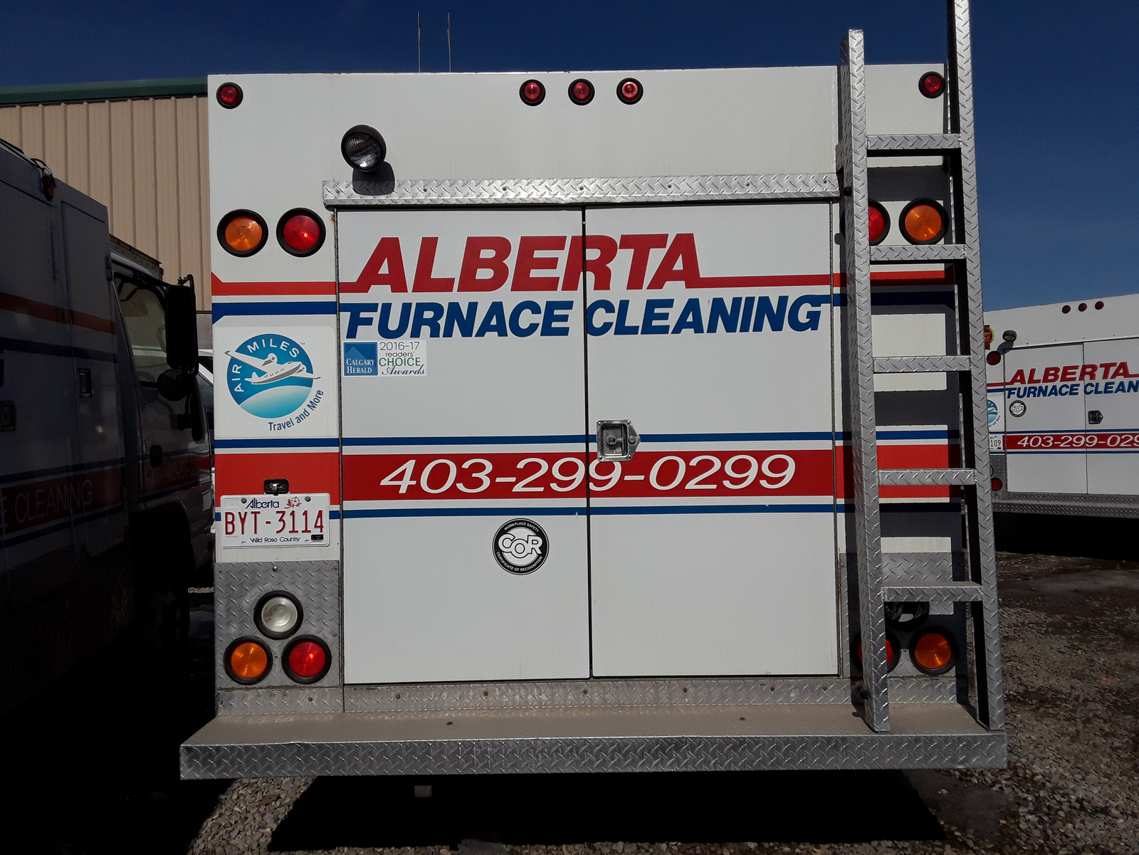 Alberta furnace cleaners duct truck