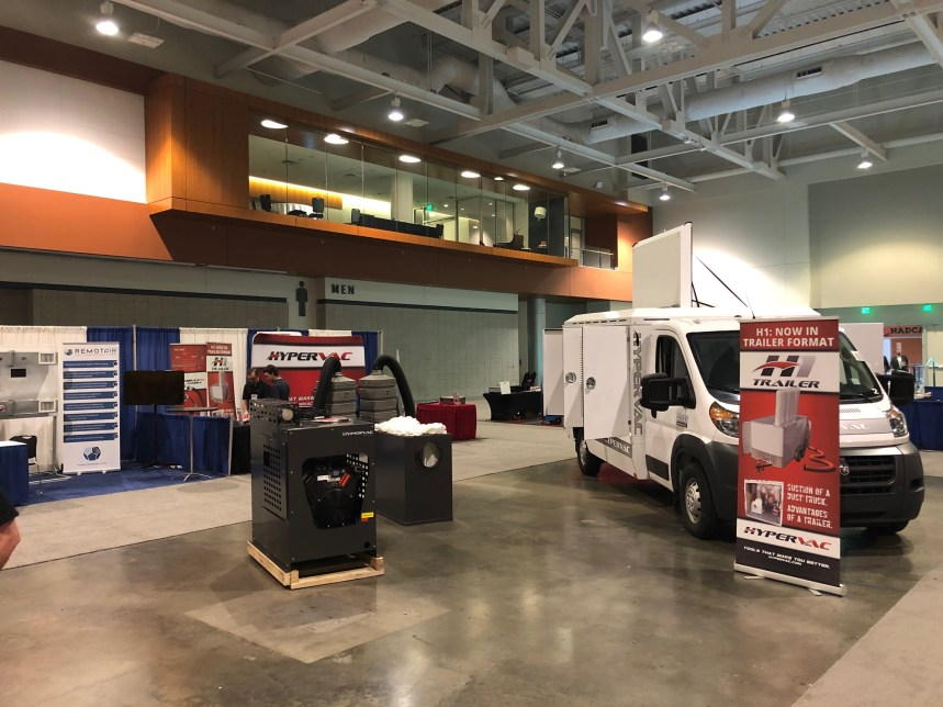 h1 duct truck and havac cube vac on display NADCA