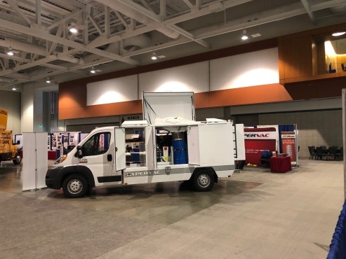 h1 duct truck with doors open on display NADCA