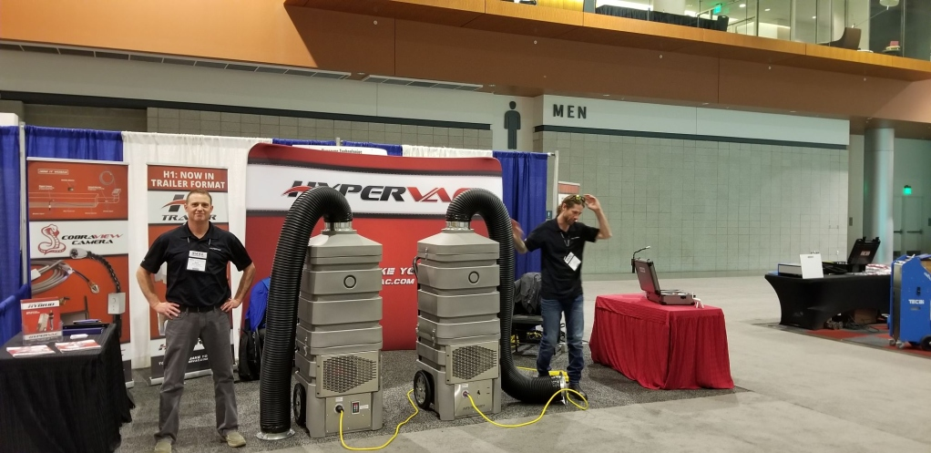 NADCA show Revolution Hybrid duct vacuum