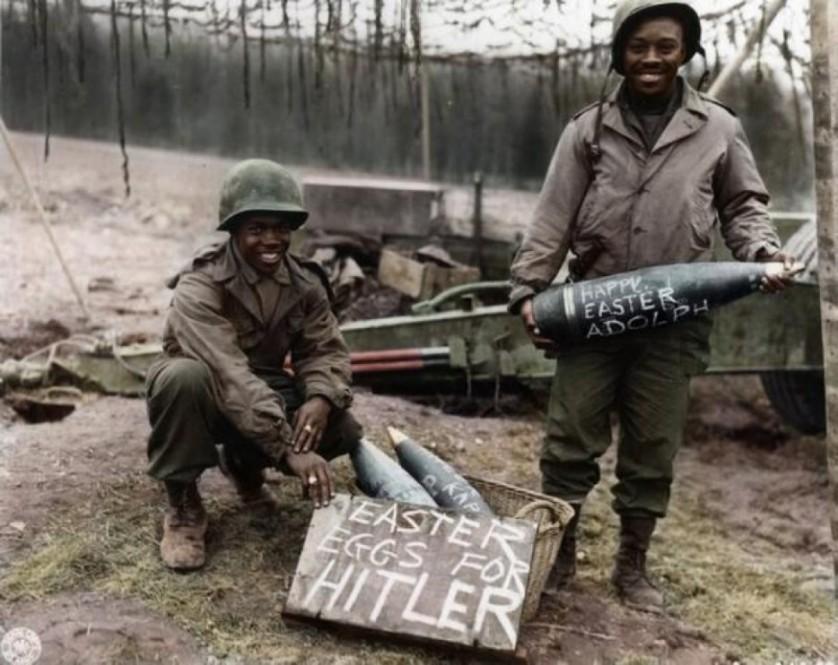 Soldados da Segunda Guerra Mundial na Páscoa