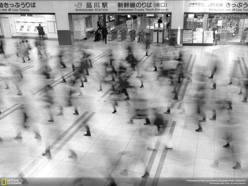 Estação de Metrô de Tóquio, fotografada por Franc Peter, foi menção honrosa