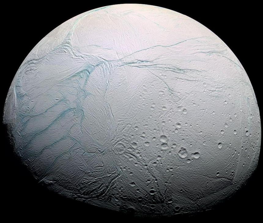 hipercronicas - Enceladusstripes cassini di NASA JPL Space Science Institute - rilasciati sotto Public Domain