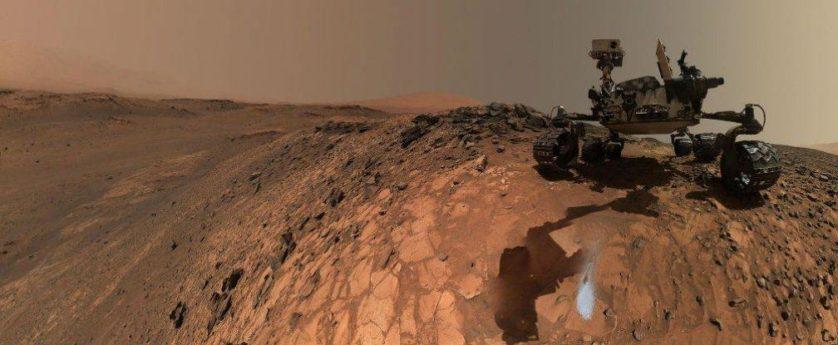 Curiosity em Marte água