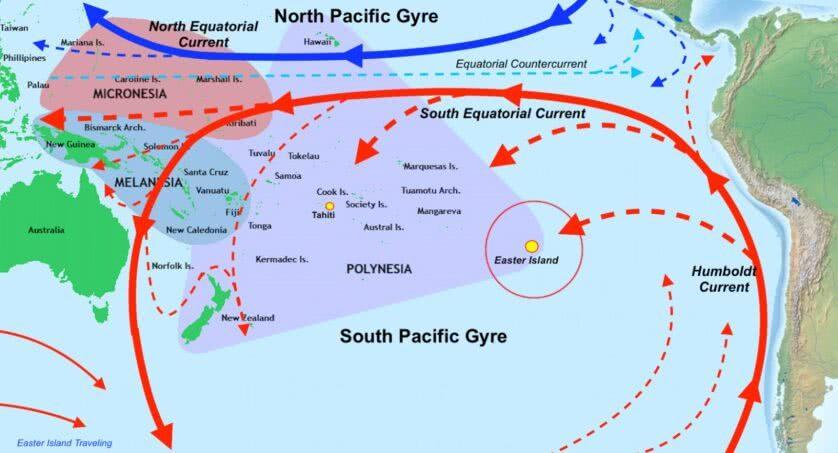 Giro del Pacifico meridionale.