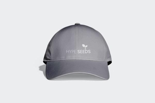 Gray & White sports cap