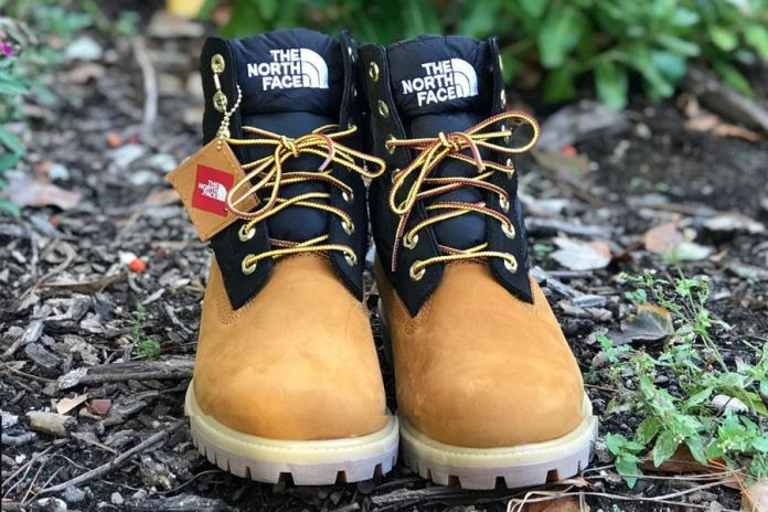 "timberland the north face nuptse 6"" boot"