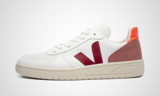 V-10 Leather (weiß / marsala) Sneaker