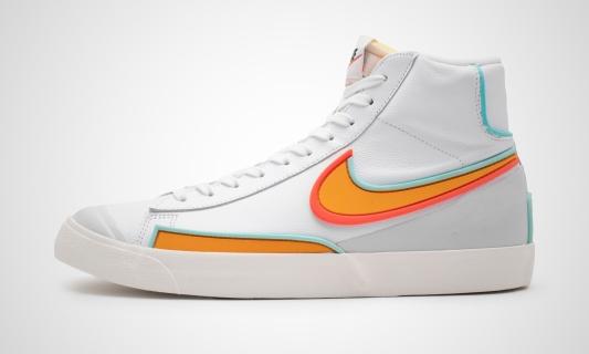 Blazer Mid '77 Infinite (weiß / orange) Sneaker