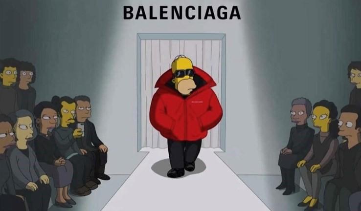 The Simpsons Balenciaga Fashion Week Paris