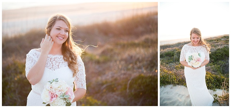 Jamie Bridal Portraits at Oak Island, NC