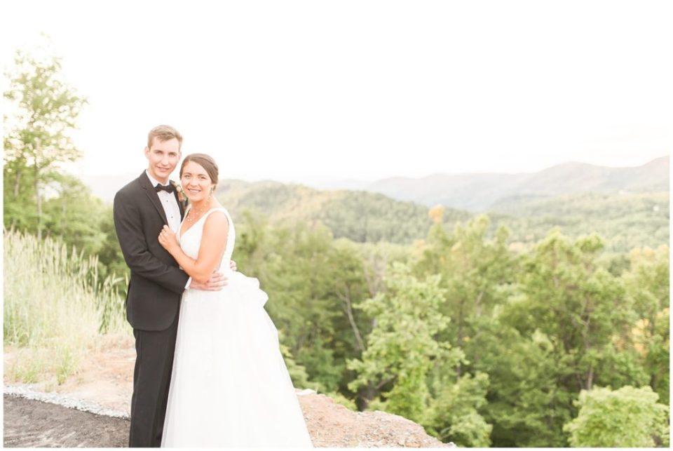 vineyard black tie wedding in mountains of North Carolina
