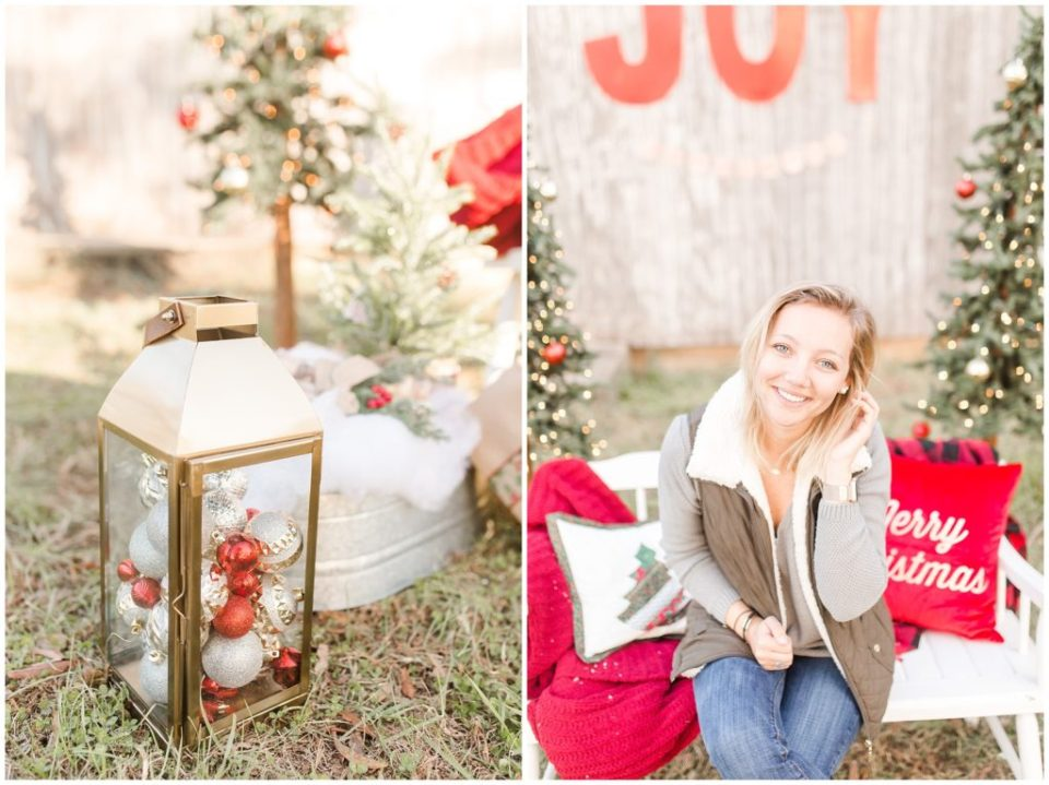 christmas mini sessions with farmhouse vibe