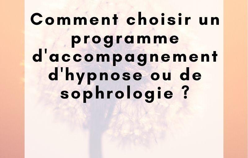 Programme d'accompagnement d'hypnose ou de sophrologie