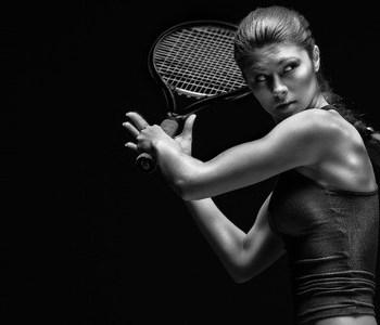 tennisspielerin sport konzentriert