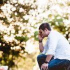 mann psychisch belastet trauma