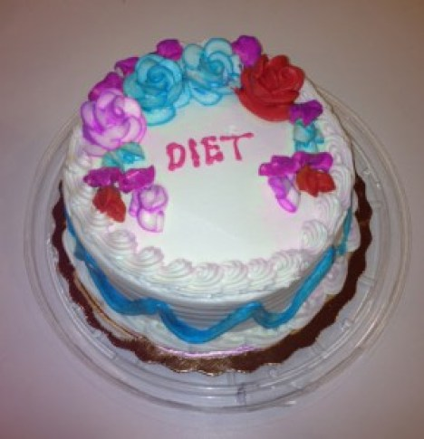 Diet Cake is a joke but no more ridiculous than some of the outlandish claims of dieting products