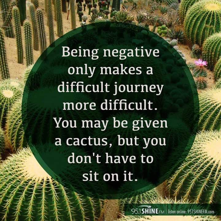 Negativity binds us