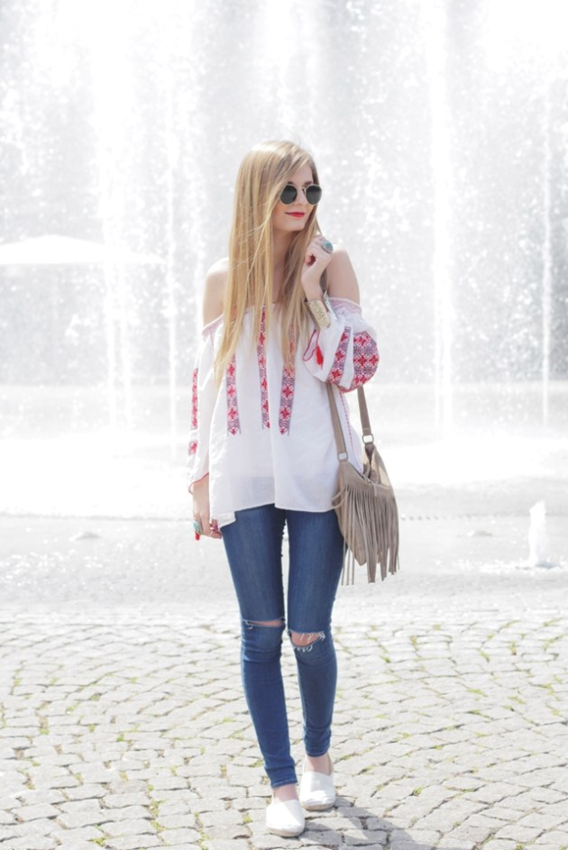 Boho Blouse Outfit 1