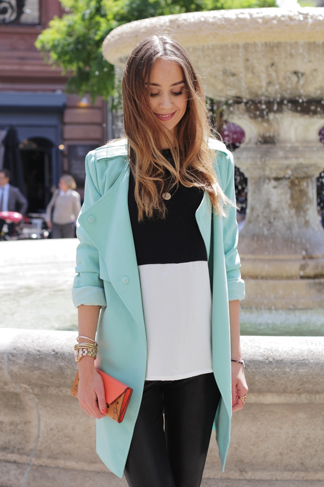 Mint Trenchcoat Outfit 10