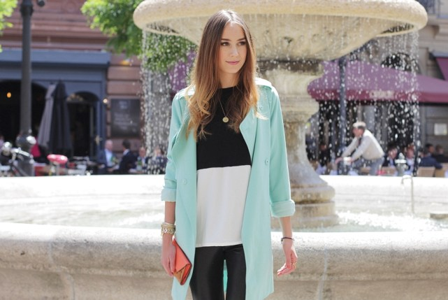 Mint Trenchcoat Outfit 14