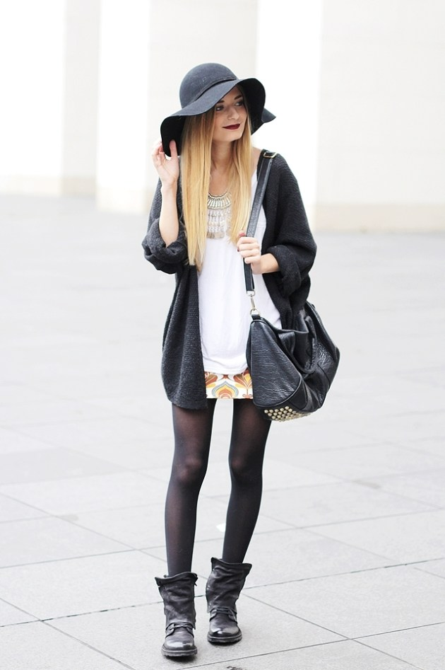 Herbst Outfit Retro Rock 1