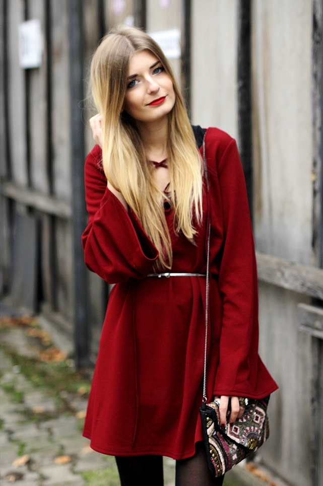 Rotes Kleid Outfit Blog 1