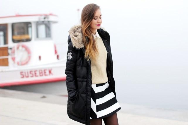 Hypnotized ist ein deutscher Modeblog. Hier zeigt Modebloggerin Helena ihr Winter Outfit mit Winterjacke. Mehr Streetstyles gibt es auf dem Modeblog aus Frankfurt, Deutschland.