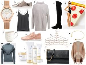 Inspiration Collage Weihnachtsgeschenkideen für Fashionistas
