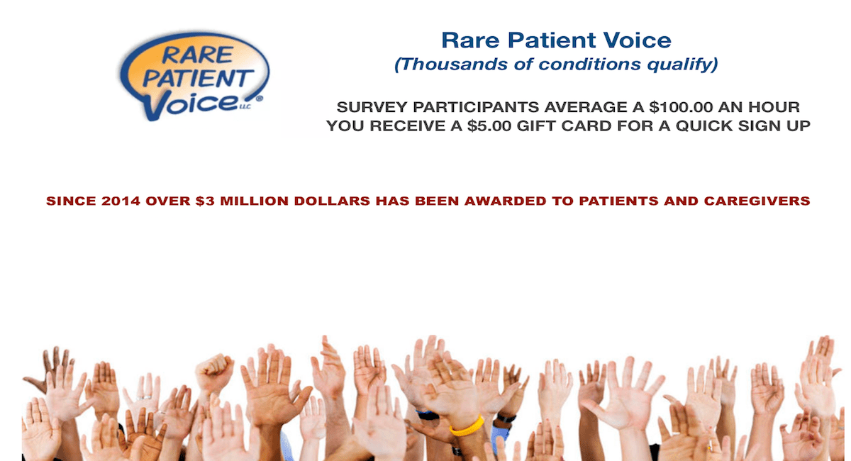 PAID SURVEYS WITH RARE PATIENTS VOICES