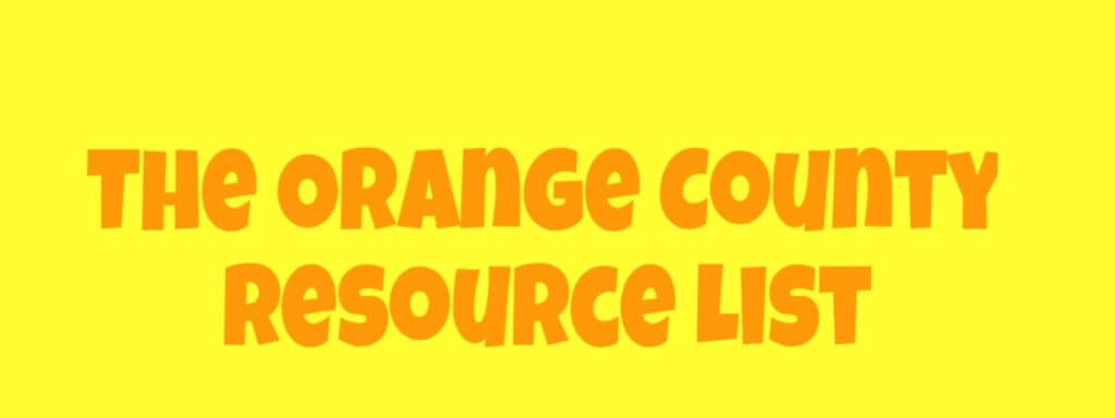 CALIFRONIA ORANGE COUNTY BEST RESOURCE LIST