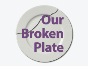 our broken plate