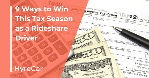Rideshare, Tax, tax season, hyrecar, mobility, ridesharing
