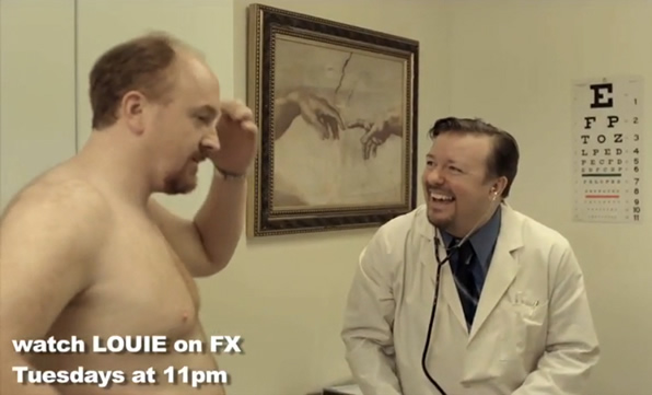 Louis C.K. and Ricky Gervais