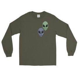Aliens Painted by Chris Disano Long Sleeve T-Shirt
