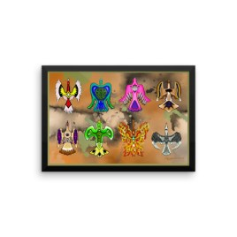 Of All Color Waterbirds Framed photo paper poster