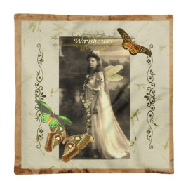 Wayshower Vintage Fairy Square Pillow Case only