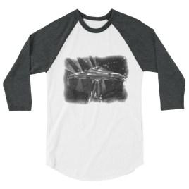 """""""Beings"""" Sketch 3/4 sleeve raglan shirt"""
