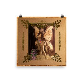 Sovereignty Vintage Fairy Poster
