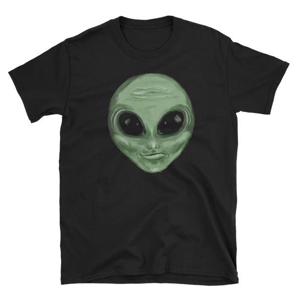 Alien Head Painted by Chris DisanoShort-Sleeve Unisex T-Shirt