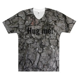 Hug Me! Tree Shirt Men's V-Neck T-Shirt