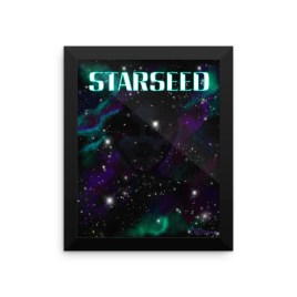 Starseed digital art by Chris Disano Framed photo paper poster