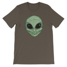 Alien Head Painted by Chris Disano Short-Sleeve Unisex T-Shirt