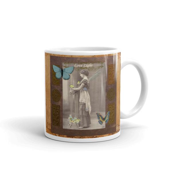 Love Light Vintage Fairy Mug