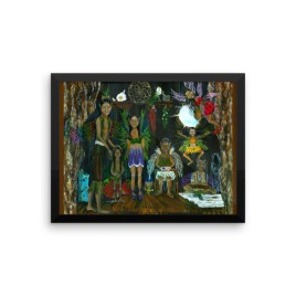 See the Little People…An Enchanted Adventure Framed photo paper poster